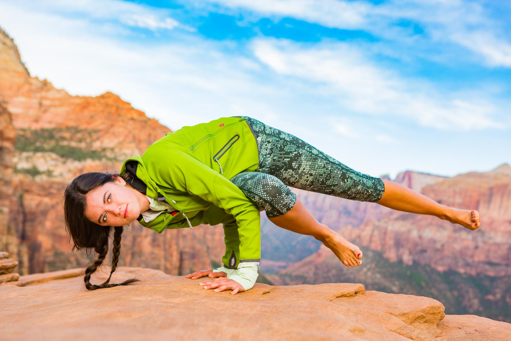 Yoga in Zion National Park Side Plank | Michael DeYoung