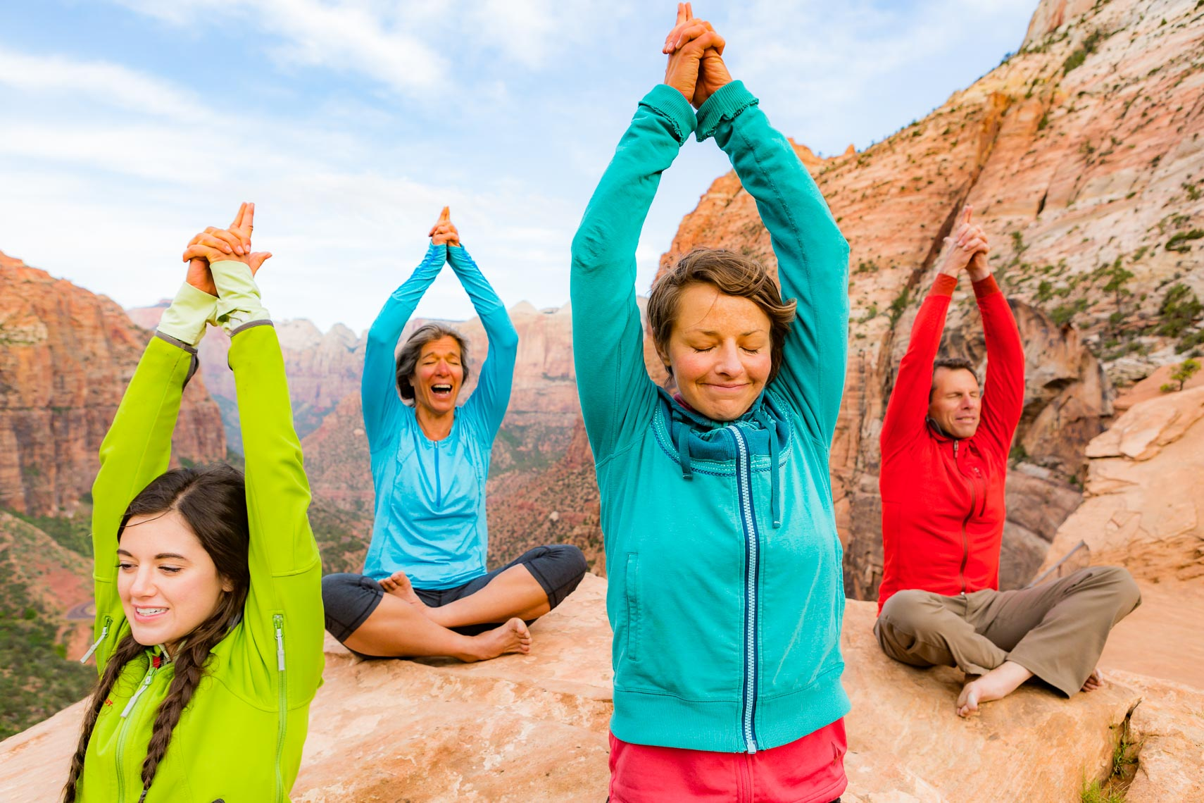 Zion Adventure Yoga Outdoor Class | Photographer Michael DeYoung