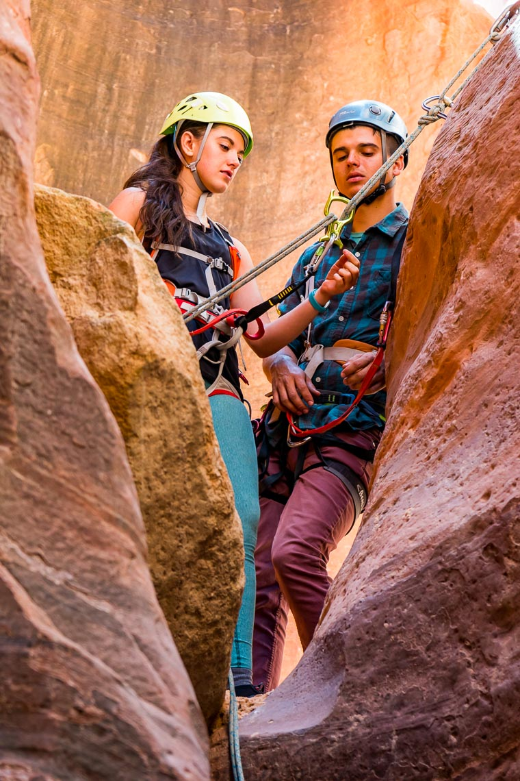 Canyoneering Utah Slot Canyon | Photographer Michael DeYoung
