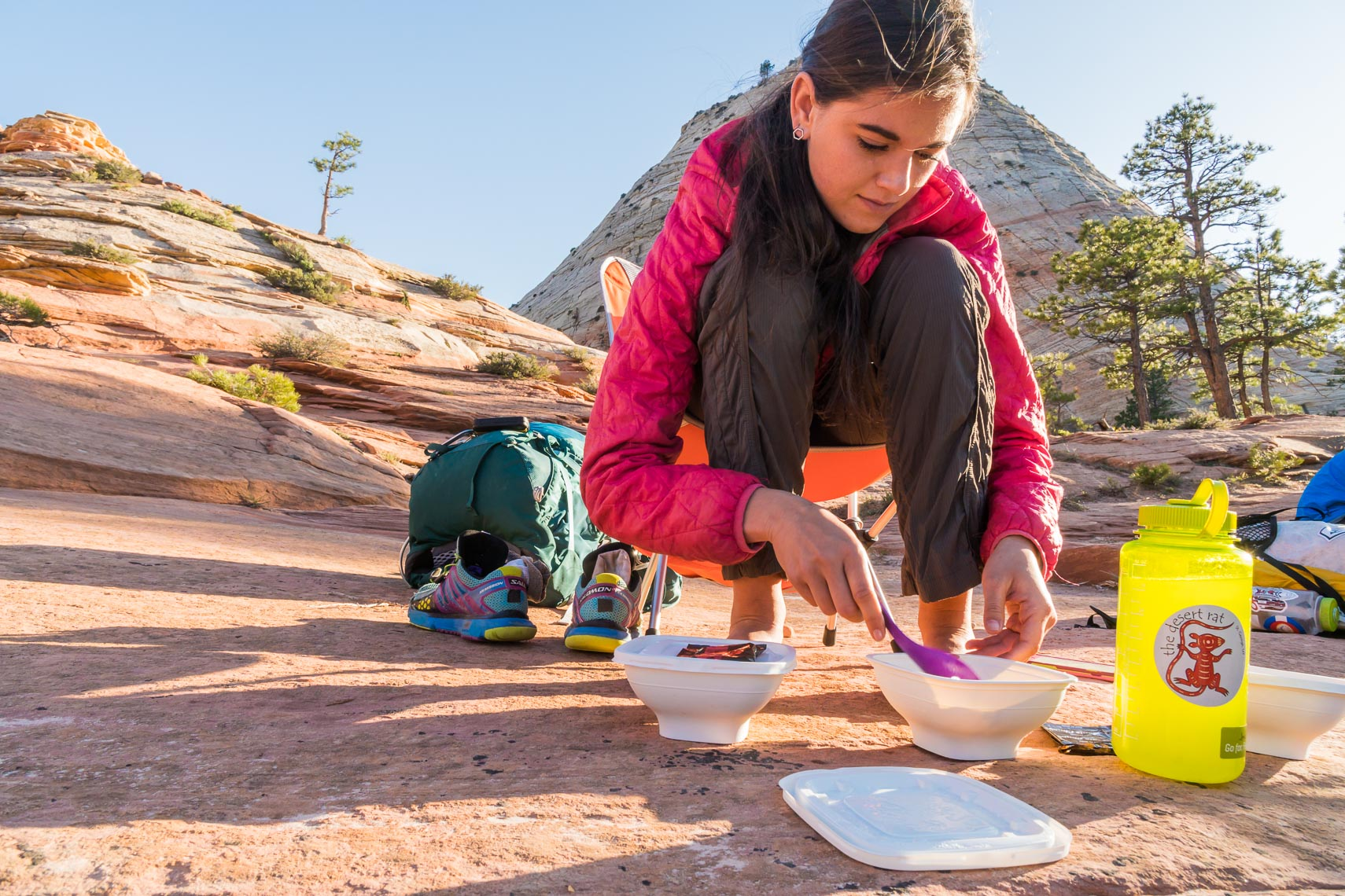 Backpacking Meal Zion Utah | Michael DeYoung