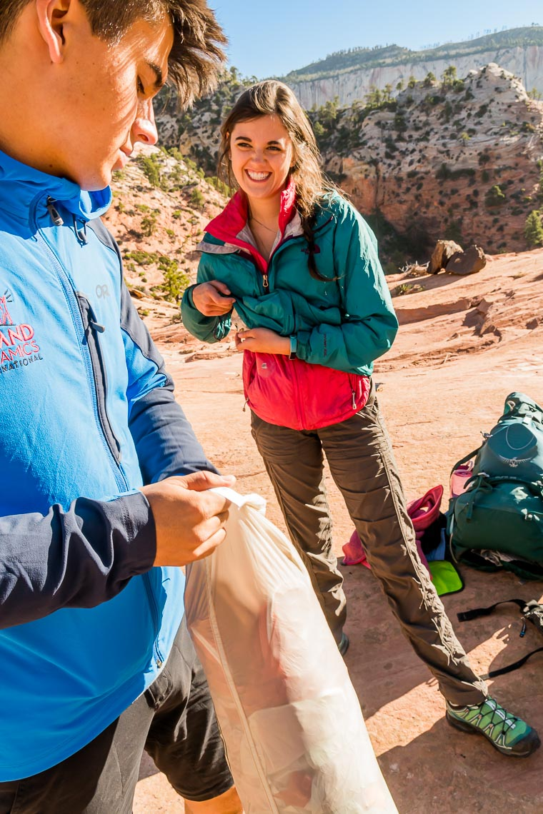 Young Backpacking Couple Zion Utah | Michael DeYoung
