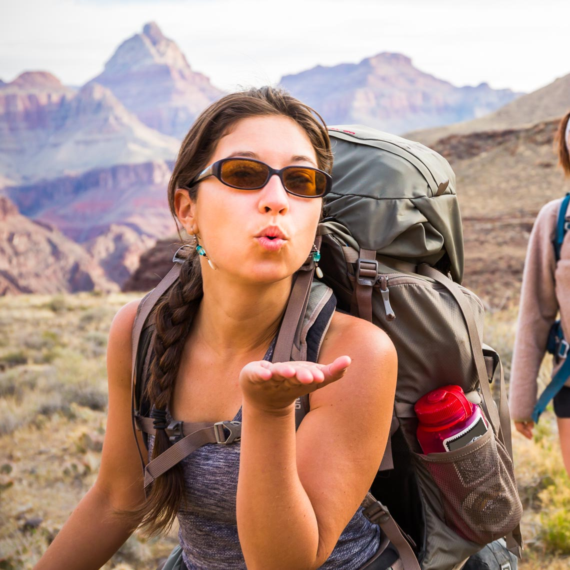 Grand Canyon Backpack Adventure Hiker Greeting | Michael DeYoung