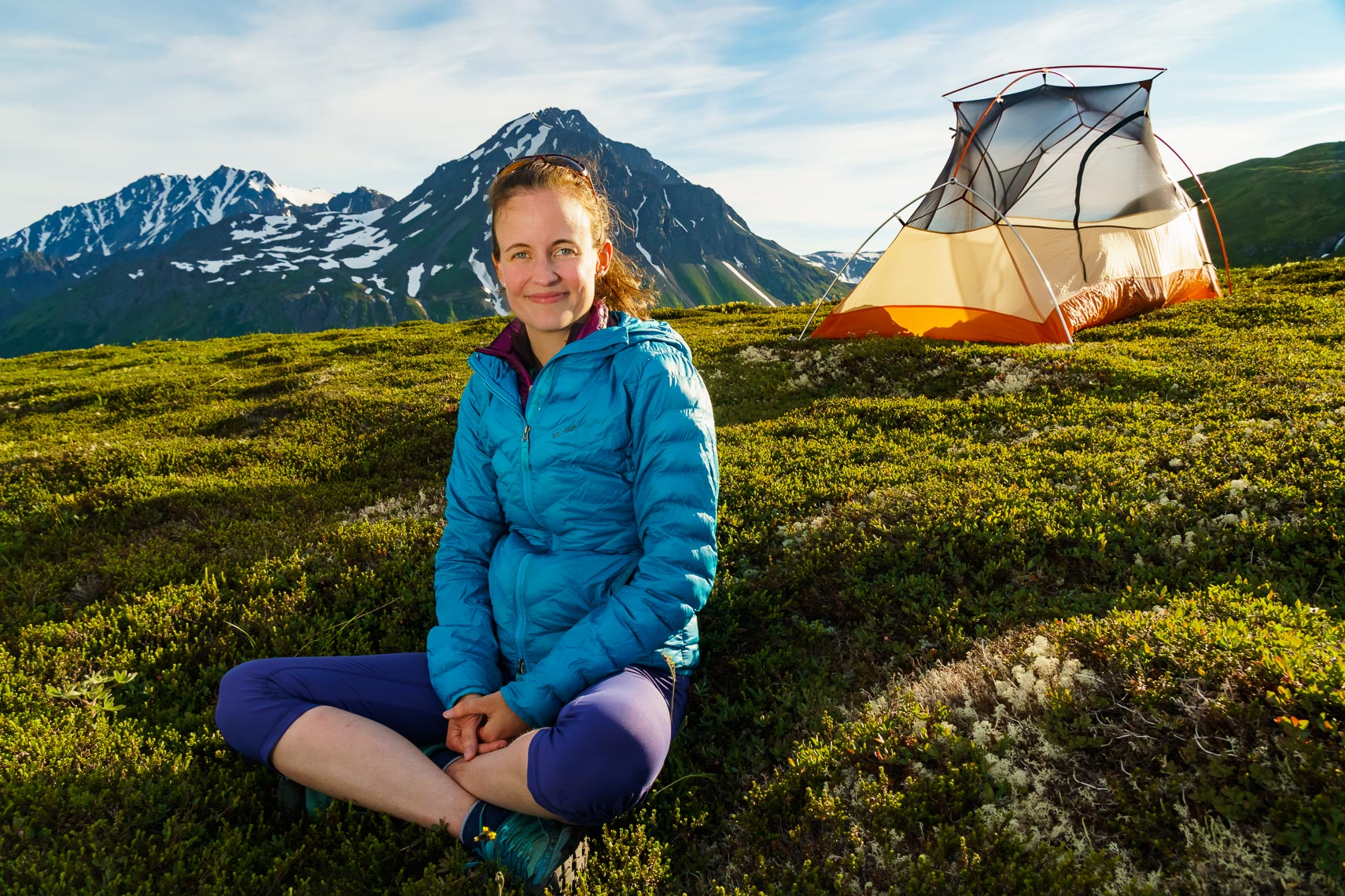 Alaska Hiker At Camp | Michael DeYoung Photography